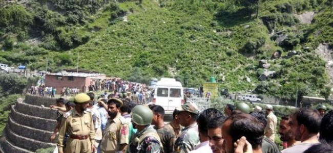 Three killed after car plunges into gorge on Kashmir highway