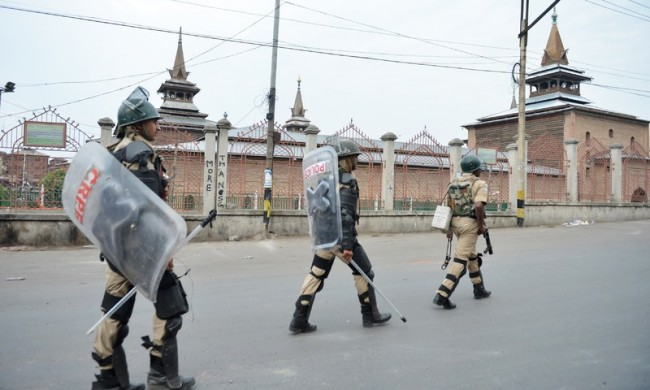 Restrictions in Kashmir capital to prevent protests