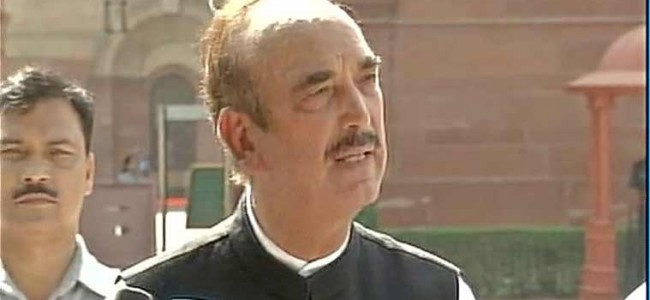 Azad gives notice in Rajya Sabha over deteriorating security in J-K