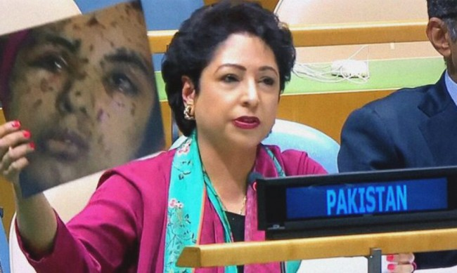 Lodhi hits back at Swaraj at UN : Kashmir is not part of India