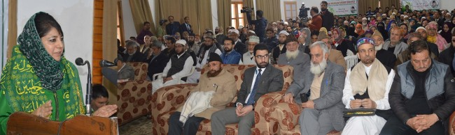 Mehbooba asks religious scholars to lead society, show right path to get out of difficult issues