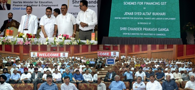 FM launches J&K Bank Add on Working Capital-GST Scheme for JK businesses  JK Bank heartbeat of the J&K State: Altaf Bukhari
