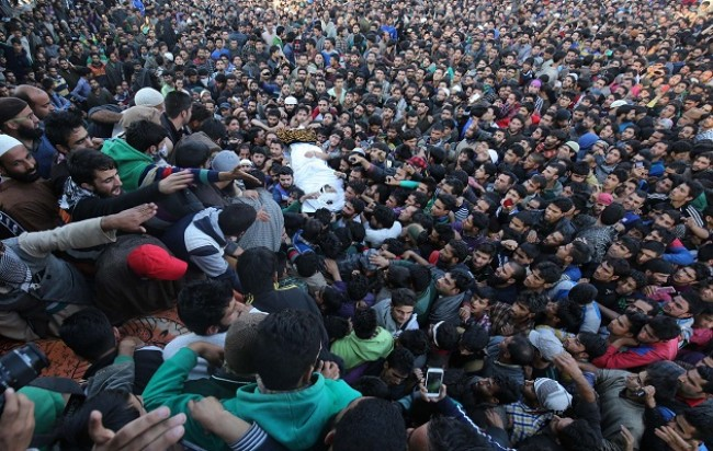 Kulgam buries 7th civilian amid sobs and tears on Monday