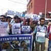 Pellet victims protest in Srinagar, demand ban on the 'lethal' weapon