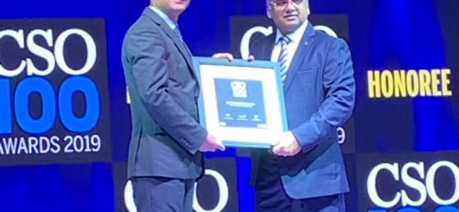 J&K Bank's Information Security officer bags CSO100 Award