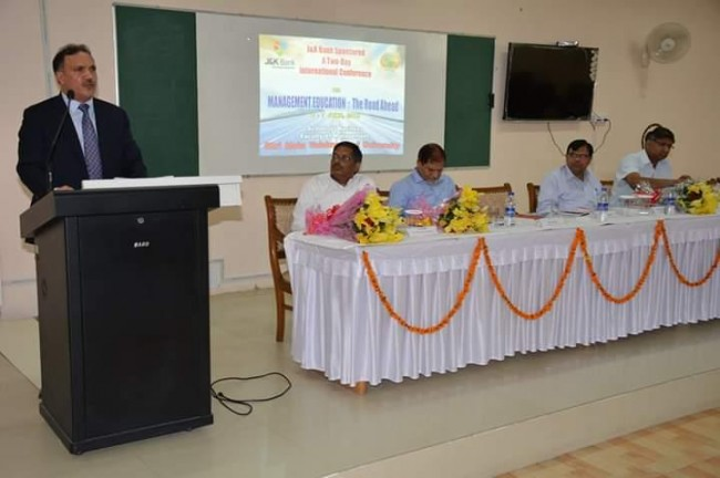 Parvez Ahmed presides over valedictory session of SMVDU International Conference on the Management Education at Katra.
