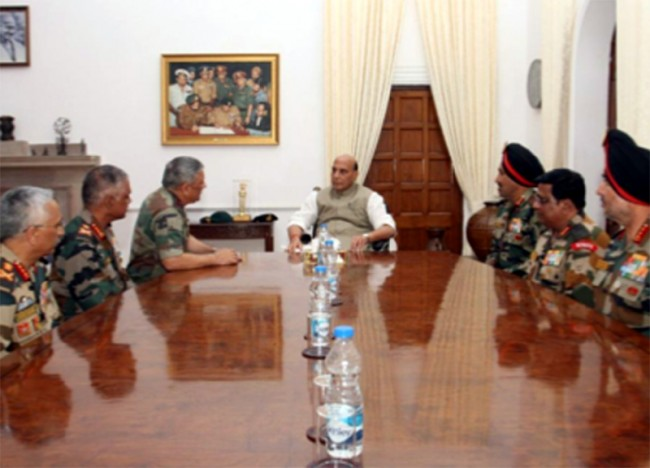 Defence Minister meets top Army brass; reviews situation along Pak, China borders