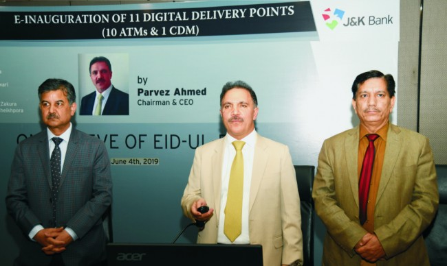 On Eid eve, J&K Bank Chairman e-inaugurates 11 digital delivery points