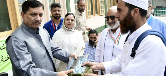 J&K Bank Chairman visits Haj House, interacts with pilgrims