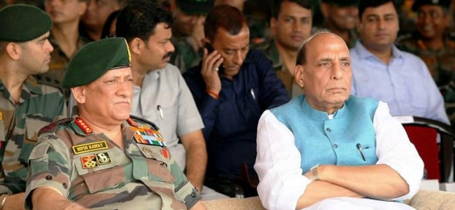 Defence Minister Rajnath Singh briefed by Army Chief on situation at LoC