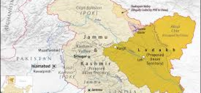 Centre releases political map of new Union Territories Jammu & Kashmir and Ladakh