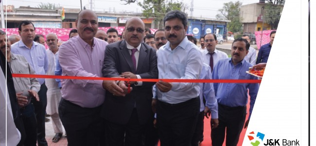 J&K Bank opens 3 more BUs, 4 ATMs in Jammu, Srinagar