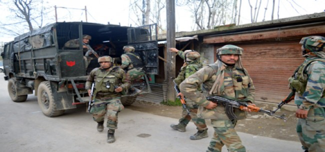 Search operation launched in Khansahab village in central Kashmir