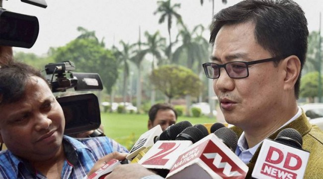 "Don't mix NIA probe with politics:""The NIA is doing its duty. It is working in national interest Rijiju"