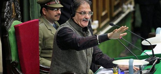 Uproar in House as BJP demands criminal proceedings against Akbar Lone over pro-Pak slogans
