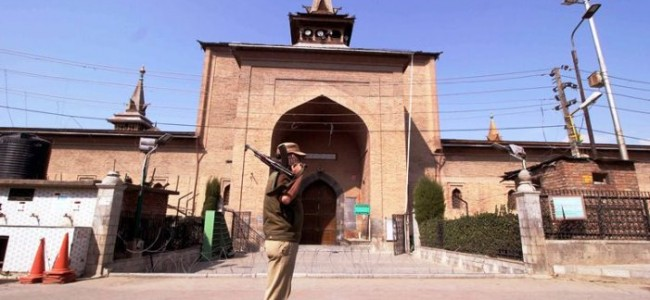 Friday prayers not allowed in Jamia Masjid Srinagar