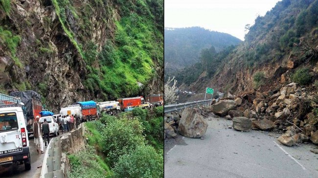 Day-4: Srinagar-Jammu highway continues to remain shut