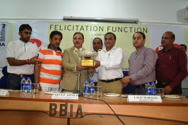 JK Bank Chairman felicitated for state centric approach, supporting industry by BBI Association