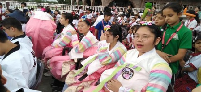 Korean students enthrall local students with cultural programme