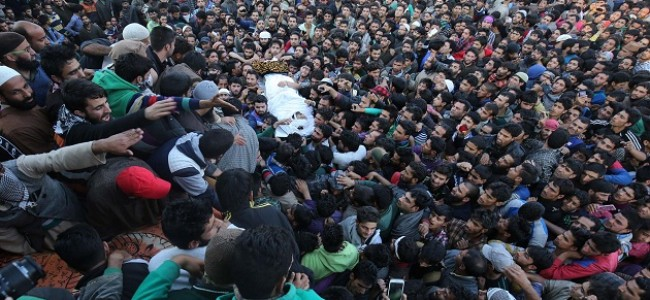 Multiple rounds of funeral prayers held for slain militant in Tral