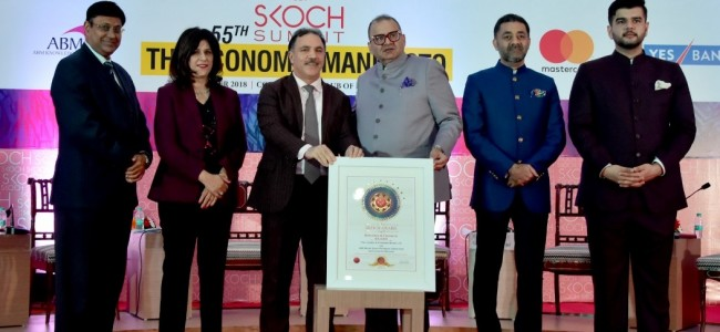 JK Bank Gets SKOCH Award in Banking, Finance Category For Ladakh Region