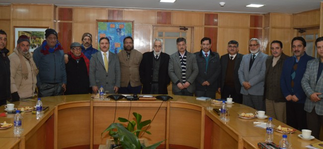 Socio-economic development of the J&K State is paramount for us: Parvez Ahmed