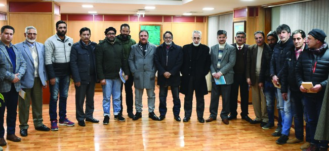 KTMF Delegation meets Chairman J&K Bank