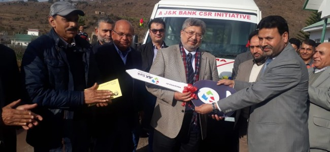 J&K Bank Dedicates Ambulance for student welfare to Baba Ghulam Shah Badshah University Rajouri under its CSR initiative.