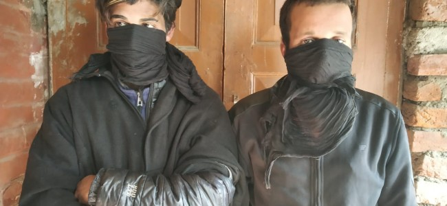 Two drug peddlers arrested in Sopore