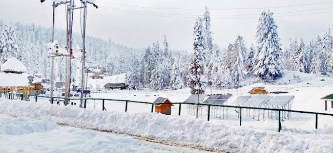 Weather likely to remain partly cloudy with possibility of light snow at isolated places on higher reaches of J&K and Ladakh during nxt 2 days.