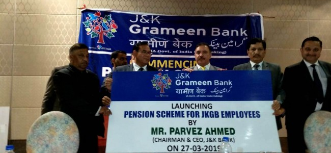 Chairman JK Bank launches Pension for employees of Grameen Bank Human capital is the real strength of an organization- Parvez Ahmed
