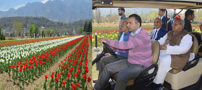 Governor calls Kashmir 'World's most beautiful place'