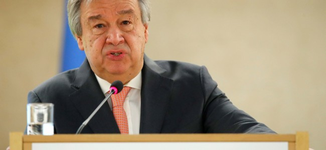 UN chief calls for 'positive' settlement of Kashmir issue, evades comments on demography charter