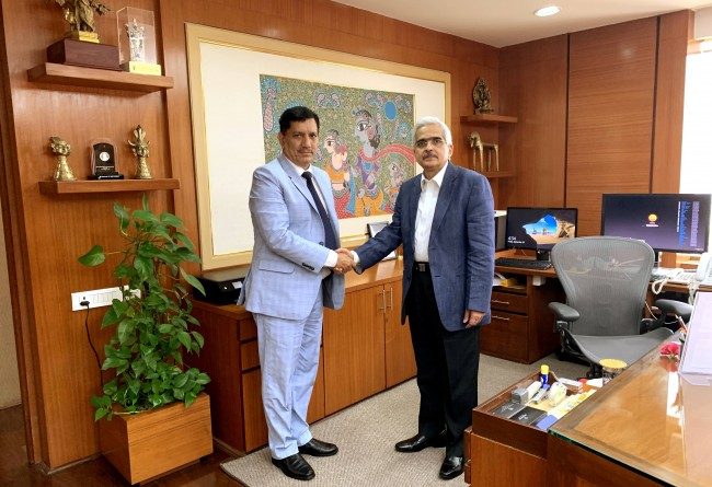 J&K Bank Chairman & MD calls upon Governor RBI