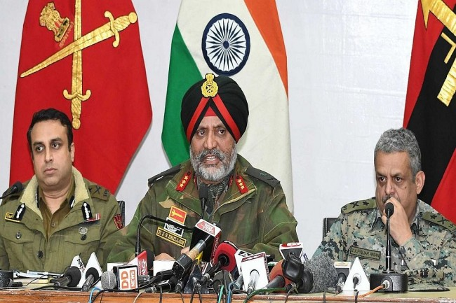 4 surrender cases came to fore recently, but there are many such cases: GoC 15 Corps B S Raju