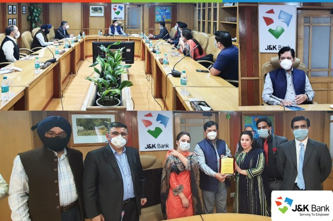 J&K Bank CMD meets KYEF delegation  Be the agents of positivity; JKB CMD to young entrepreneurs