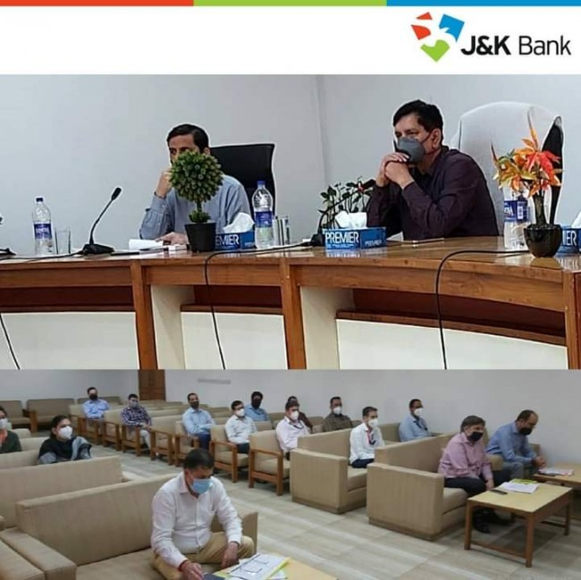 J&K Chairman and Managing Director R K Chhibber had an interaction with the staff posted at Advances Department and Cluster Offices of Jammu