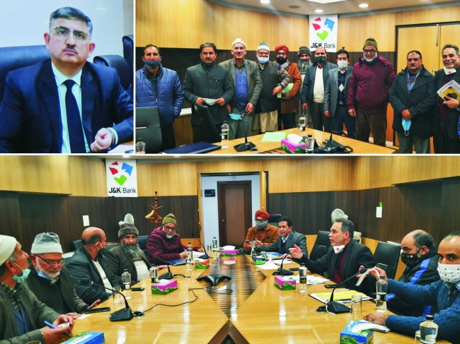 KVFG Union calls on J&K Bank management  Supporting fruit growers J&K Bank's top priority: Executive President