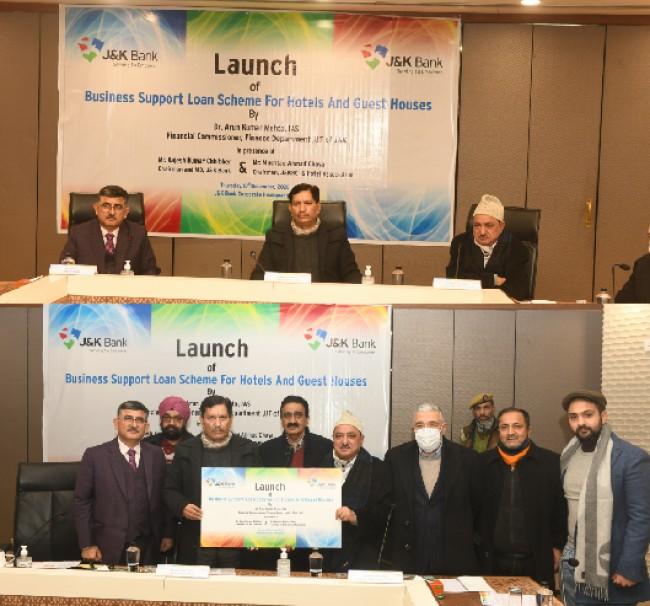 Financial Commissioner launches J&K Bank's scheme for hospitality sector  J&K Bank's progress linked with business community: JKB CMD