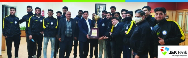 CMD felicitates JKB Football Academy for winning Christmas Gold Cup