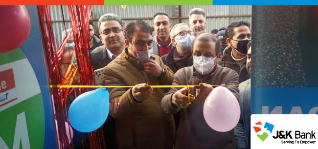 J&K Bank commissions ATM at Chhattergam in Budgam
